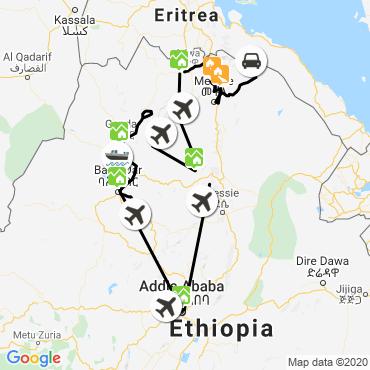 Itinéraire Royaume d'abyssinie et majestueux volcan dallol