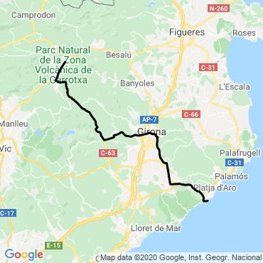 Itinéraire Catalogne à vélo, entre pyrénées et méditerranée