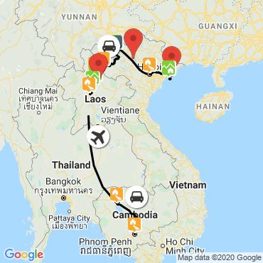 Itinéraire Viêtnam, laos, cambodge : triptyque asiatique