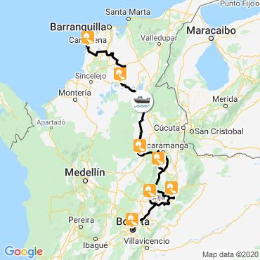 Itinéraire Colombia la linda