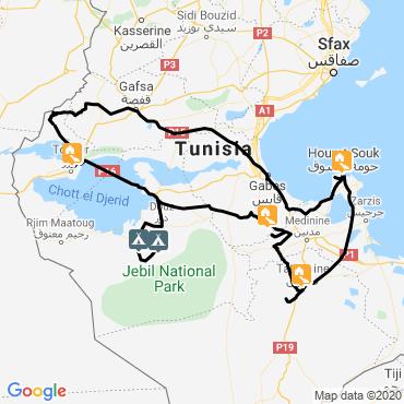 Itinéraire Montagnes, dunes et palmeraies
