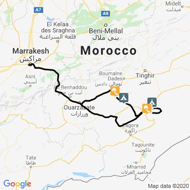 Itinéraire Du sarhro au sahara