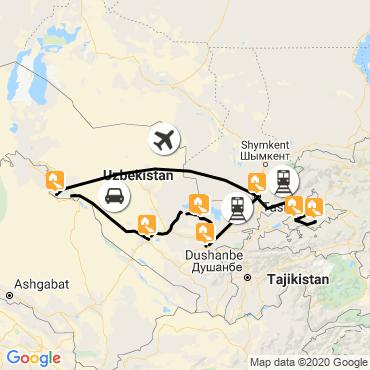 Itinéraire Merveilles d'ouzbékistan
