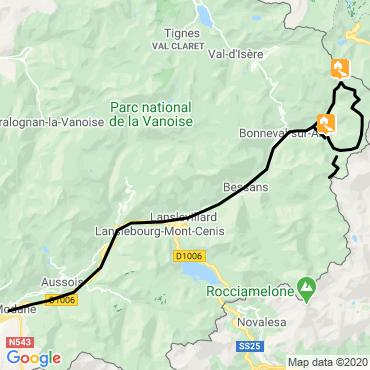 Itinéraire La traversée carro-evettes