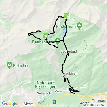 Itinéraire Objectif 3000m en oberland