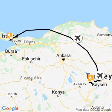 Itinéraire Cappadoce et istanbul