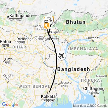 Itinéraire Du bengale au sikkim