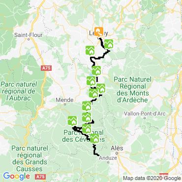 Itinéraire Le chemin de stevenson puy en velay - chasseradès