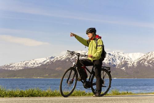 Image A vélo en terre viking