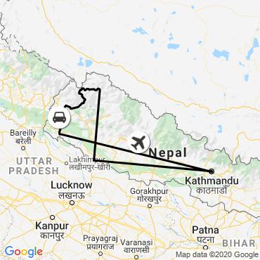 Itinéraire Dans l'ouest du népal, le trek du saïpal (7031 m)