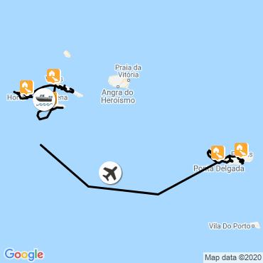 Itinéraire Les volcans de l'atlantique