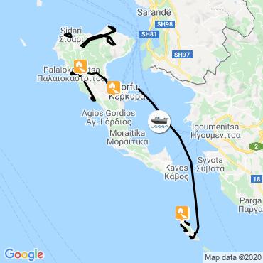 Itinéraire Corfou et paxos, émeraudes en mer ionienne