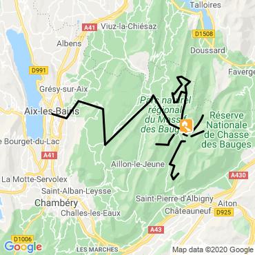Itinéraire Cols, sommets et vallons secrets des bauges