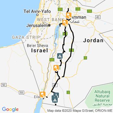 Itinéraire Les pierres d'arabie