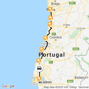 Itinéraire De porto à lisbonne à vélo