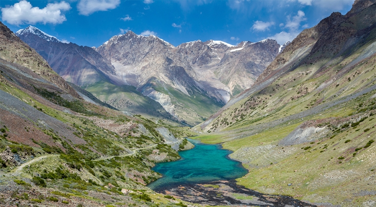 photo montagne chine lac